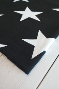 Футер 2-нитка петельный Звезды на черном